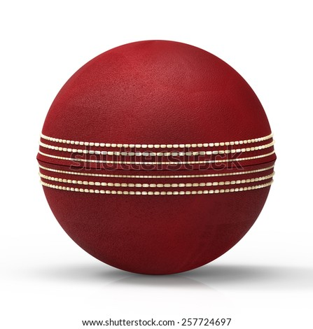 Leather Cricket Ball against white background