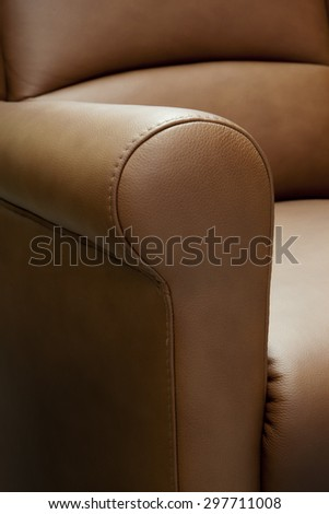 leather furniture detail - stock photo