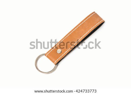 leather key chain for branding item