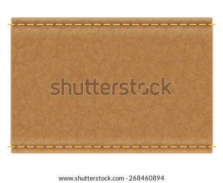 leather label for jeans illustration isolated on white background - stock photo