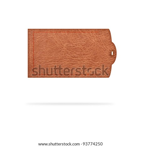 leather labels on white background