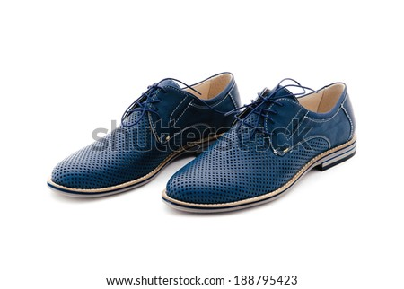 leather men shoes against white background. man's shoes isolated on white background.  man's fashion