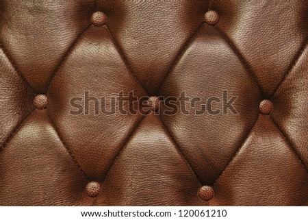 Leather Of A  Armchair