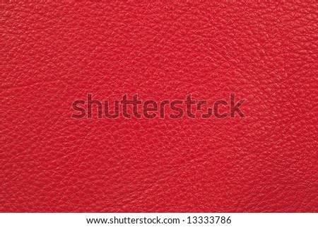 Leather of red color - stock photo
