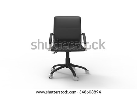 Leather Office Chair 01 - stock photo
