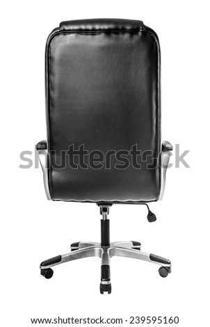 Leather Office Chair Isolated On A white - stock photo