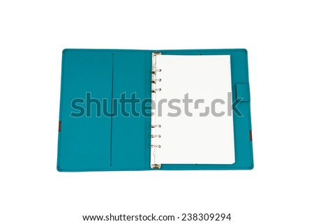 Leather organizer book - stock photo