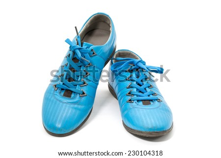 leather pairs men shoes isolated on white background - stock photo