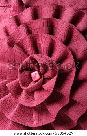 Leather pink flower