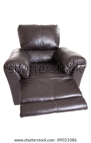 Leather recliner with leg rest extended isolated on a white background  sc 1 st  Shutterstock & Recliner Chair Stock Images Royalty-Free Images u0026 Vectors ... islam-shia.org