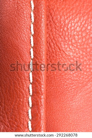 Leather red background - stock photo