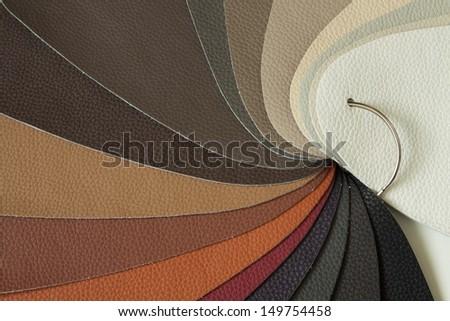 leather sampler - stock photo
