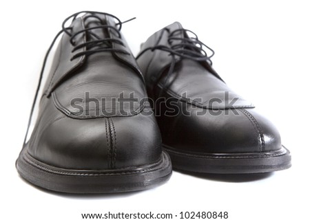 Leather shoes for man on the white background