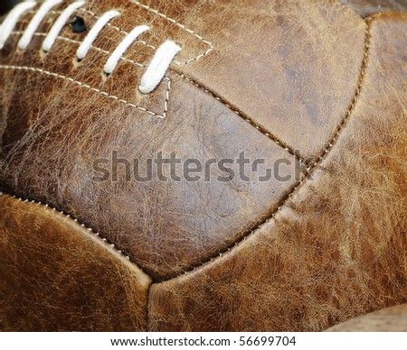 Leather soccer ball - stock photo