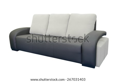 leather sofa isolated on a white background