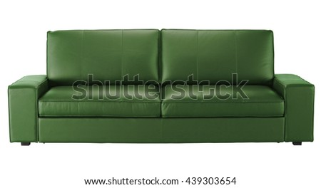 Leather sofa isolated on white. Include clipping path
