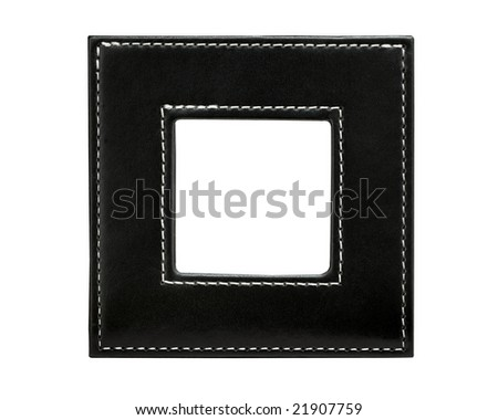 leather square frame - stock photo
