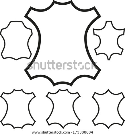 Leather symbol outline. - stock photo