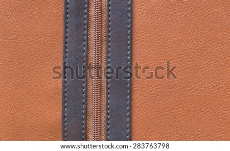 leather texture and zipper background - stock photo