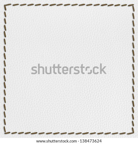 leather texture background with seam - stock photo