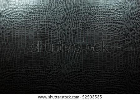 leather texture black,crocodile - stock photo