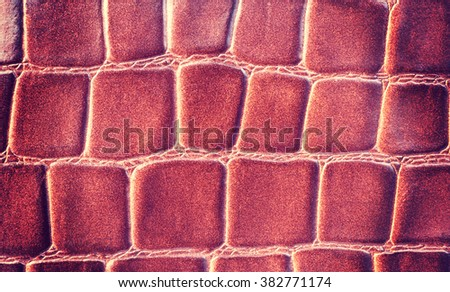 Leather Texture brown Pressed crocodile pattern - stock photo