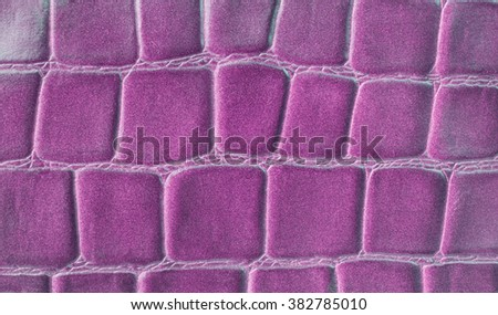 Leather Texture green pink Pressed crocodile pattern - stock photo