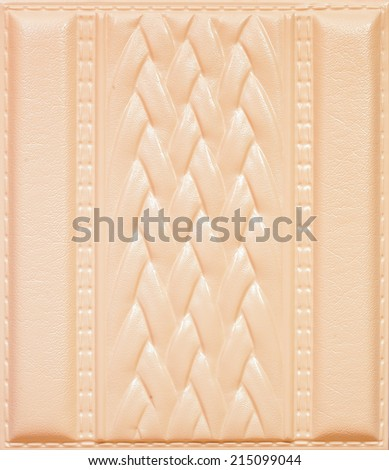 Leather tile with a volume pattern, texture of skin for a decor of an interior of premises and for finishing of walls of restaurants, clubs and offices. - stock photo