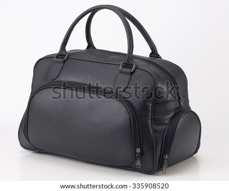 Leather travel bag - stock photo