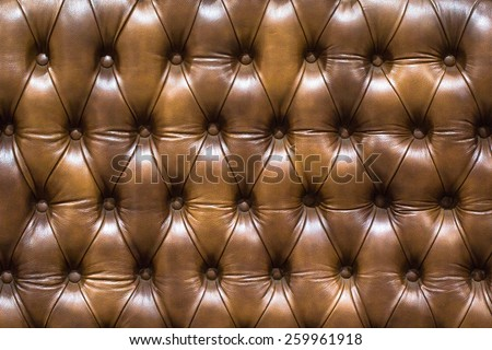 leather upholstery brown sofa background, luxury decoration sofa