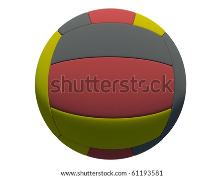leather volleyball ball on isolated background (german skin)