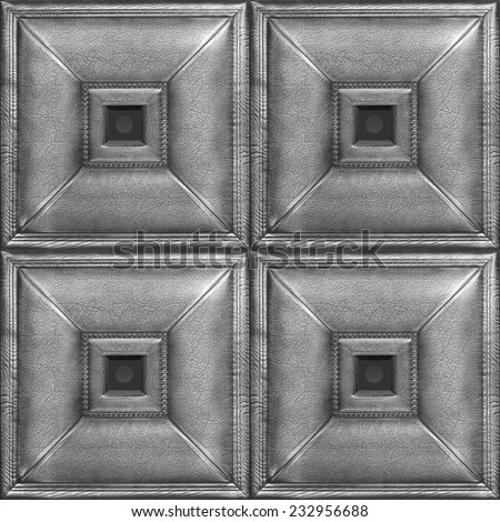 Leather volume 3-D tile for dressing of internal rooms, a wall decor with texture of skin, Nobody. - stock photo