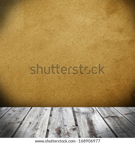 leather wall and wood floor interior background