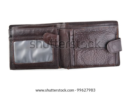 leather wallet isolated on a white background