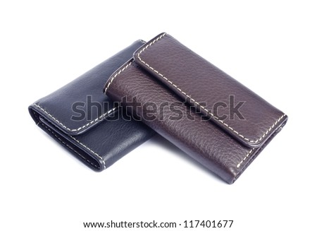 Leather Wallets Isolated on White