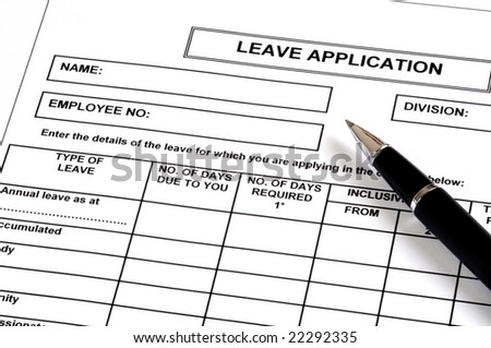 Leave Application Images RoyaltyFree Images Vectors – Leave Application