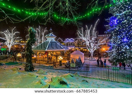 Leavenworth Wa Stock Images Royalty Free Images Vectors  - Leavenworth Christmas Lighting Festival