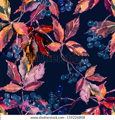 Leaves Seamless Pattern  - stock photo