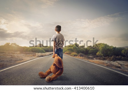 Leaving childhood behind - stock photo