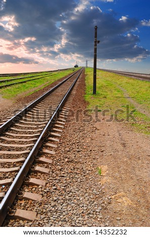 leavings far ways of railway - stock photo