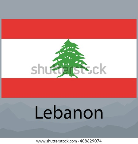 Lebanon Flag - stock photo