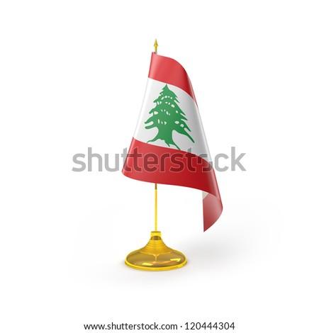 Lebanon Flag Detail Render - stock photo