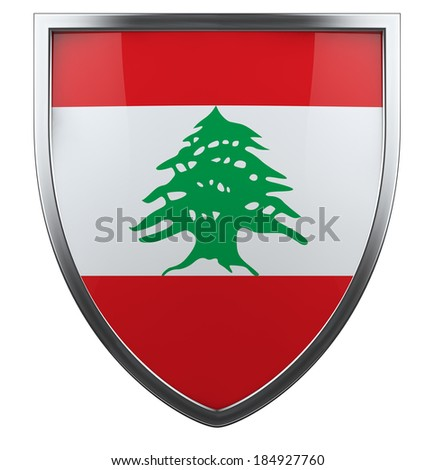 Lebanon national flag design element. - stock photo