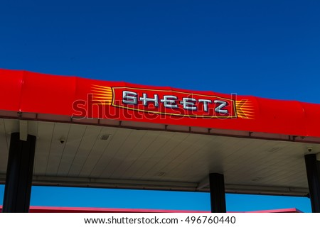 Lebanon, PA, USA - October 5, 2016: Colorful logo of Sheetz, a chain of convenience stores with coffee, cold drinks, groceries, and Made-to-Order food, and self-serve gas.