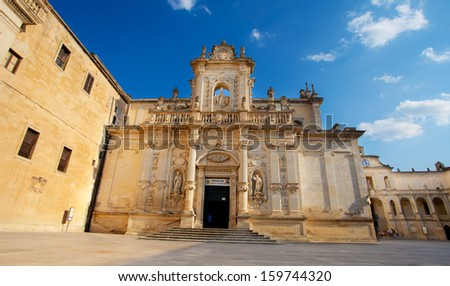 Lecce cathedral, Italy - stock photo