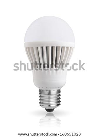 LED bulb isolated on white background - stock photo