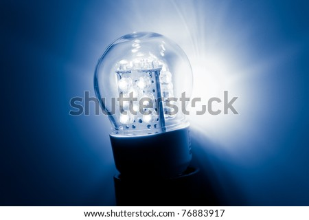led bulb light - stock photo