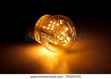 led bulb light - stock photo
