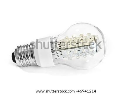 LED bulb on white - stock photo