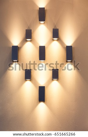 Led Decoration Lights Idea On Wall Stock Photo 651665266 - Shutterstock
